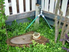 雑木ゾーンの水栓(Before)