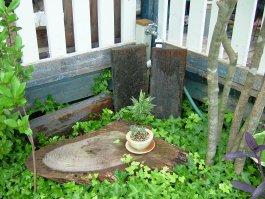 雑木ゾーンの水栓(After)